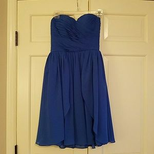 Strapless Cobalt blue Bridesmaid dress
